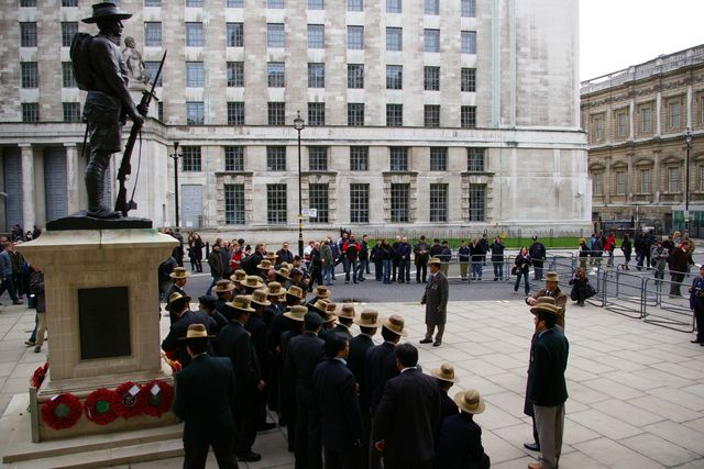 Remembrance Sunday Cenotaph Ceremony March 2009 47