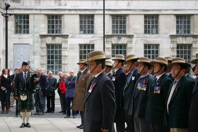Remembrance Sunday Cenotaph Ceremony March 2009 58