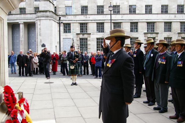 Remembrance Sunday Cenotaph Ceremony March 2009 61